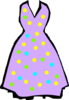 Purple Dress Clip Art