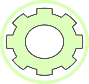 Cog Green Gear Clip Art