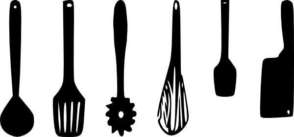 Kitchen Utensils Clip Art at Clker.com - vector clip art ...