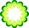 Geometric Flower Green Clip Art