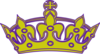 Gold/purple Keep Calm Crown Clip Art
