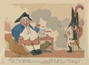 National Contrasts Or Bulky And Boney  / Etch D By Roberts. Clip Art