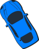 Blue Car - Top View - 120 Clip Art