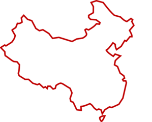 White/red Outline Of China Clip Art at Clker.com - vector ...