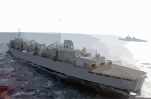 Uss Carl Vinson (cvn 70) Comes Alongside The Fast Combat Support Ship Uss Sacramento (aoe 1). Clip Art