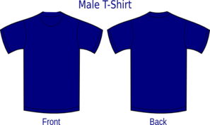 Navy Blue Shirt Clip Art