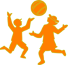 Kids Playing Ball.svg Clip Art
