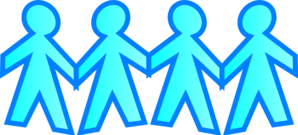Blue Stick People Clip Art