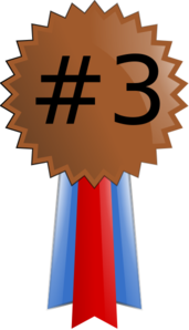 Bronze Medal Numbered Clip Art