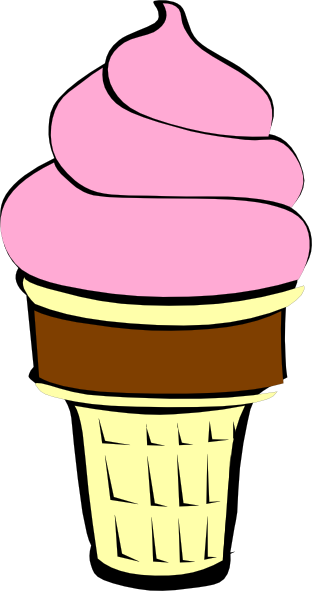 Ice Cream With Chocolate Cone Clip Art at Clker.com - vector clip ...