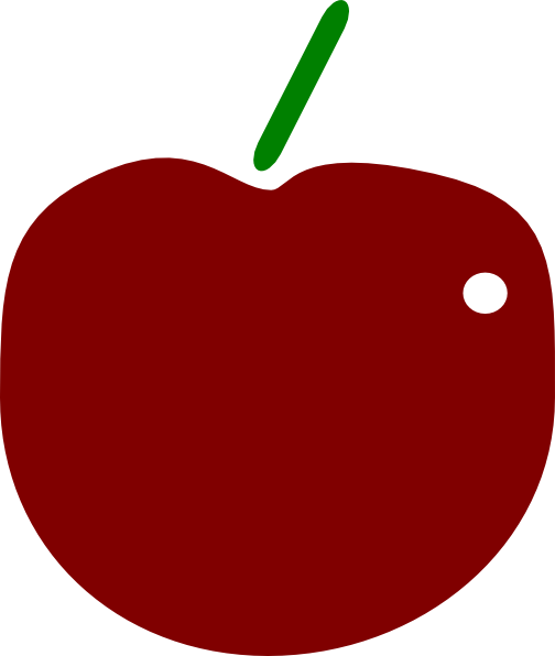 red apple clipart - photo #14