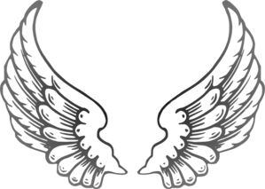 Multi Gray Wings Clip Art