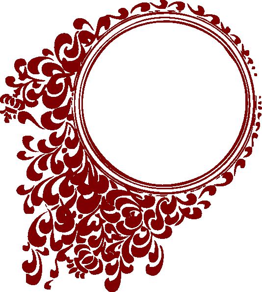 Deep Red Circle Frame Clip Art at Clker.com - vector clip art online ...
