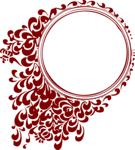Deep Red Circle Frame Clip Art