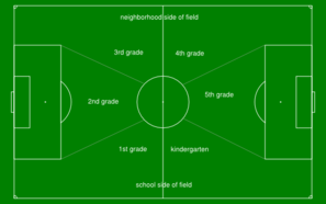 Soccer Field With Classroom Layout Clip Art