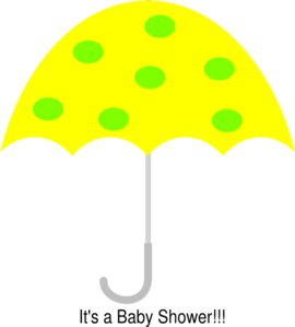 Yellow Polka Dot Umbrella Clip Art
