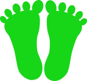 Green Footprints Clip Art