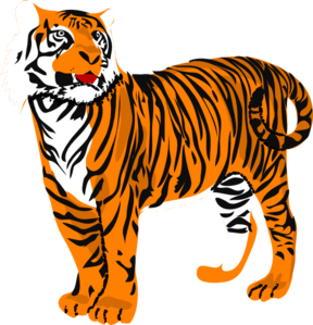tiger clip art at clker com vector clip art online royalty free rh clker com tiger clipart for kids tiger clipart black and white
