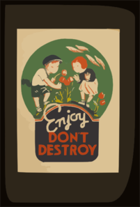 Enjoy - Don T Destroy Clip Art