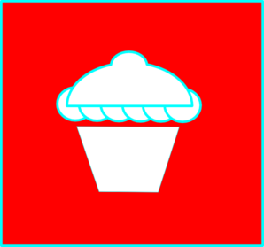 Cup Cake Red Clip Art