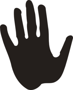 Single-handprint Inverted Clip Art