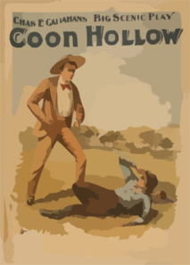 Coon Hollow Chas. E. Callahan S Big Scenic Play. Clip Art