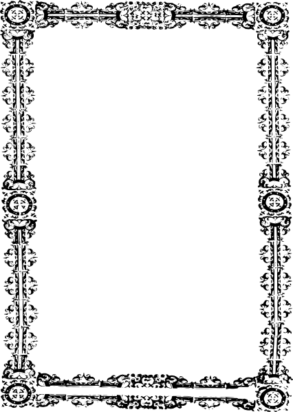 Simple Ornate Frame clip art