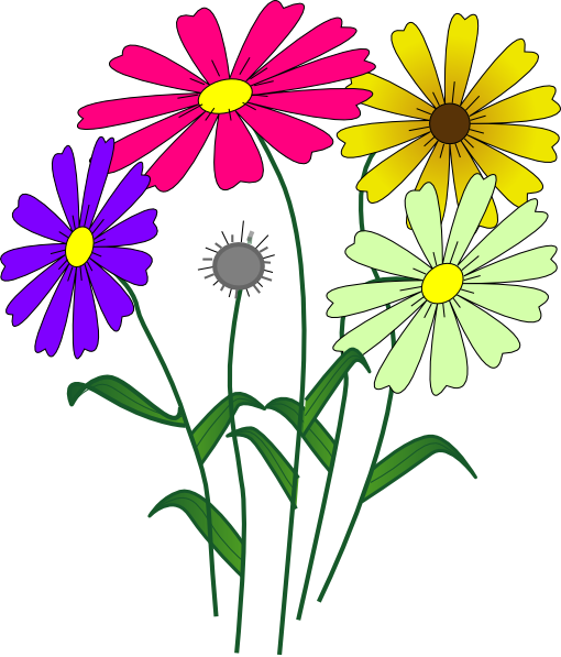 Flowers Clip Art At Vector Clip Art Online Royalty Free Public Domain