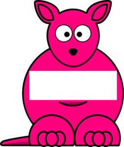 Pink Sightword Kangaroo Clip Art