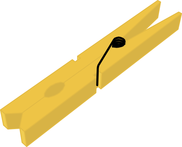 Clothes Peg Clip Art at Clker.com - vector clip art online, royalty ...