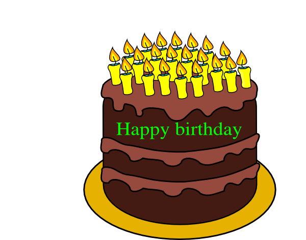 21th Birthday Cake Clip Art at Clker.com - vector clip art ...