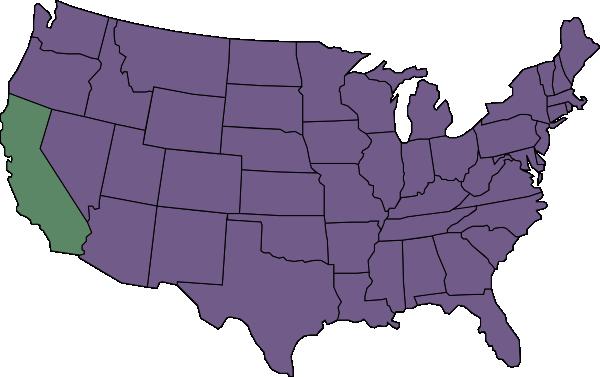 Us Map Highlighting California Clip Art at Clkercom vector