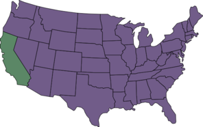 U.s. Map Highlighting California Clip Art