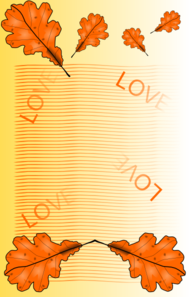 Fall Love Leaves Clip Art