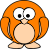 Orange Penguin Clip Art