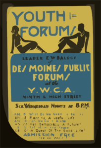 Youth Forums Leader E.w. Balduf Of Des Moines Public Forums At The Y.w.c.a. Ninth & High Street. Clip Art