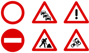 Traffic Signs Clip Art