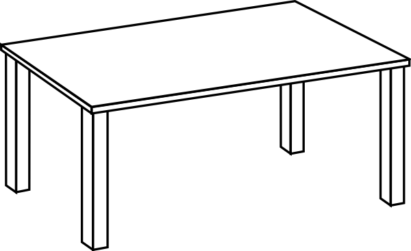 Line Art Table : Table line art clip at clker vector