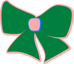 Green/pink Bow Clip Art