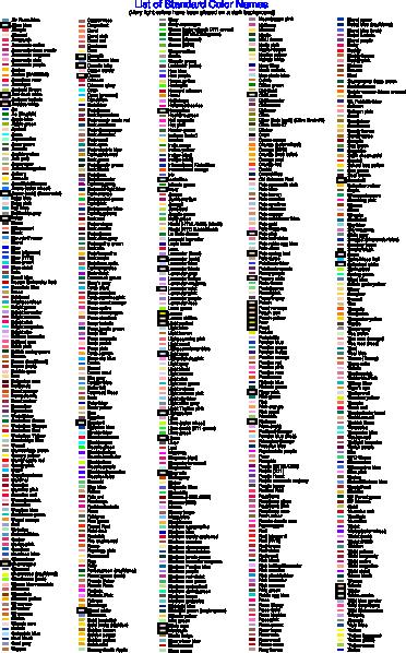 standard color list clip art at clker com