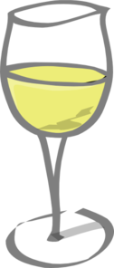 Glass Of White Wine Clip Art
