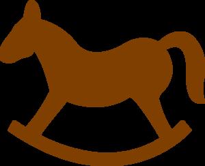 brown rocking horse clip art at clker com vector clip art online rh clker com blue rocking horse clipart blue rocking horse clipart