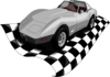 Checker Corvette Clip Art