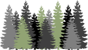 Green Gray Forest Clip Art