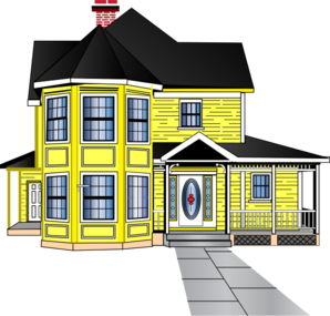 Little Yellow House Clip Art