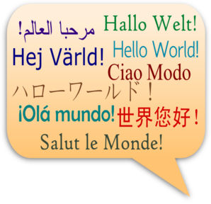 Hello World Resized Again Clip Art