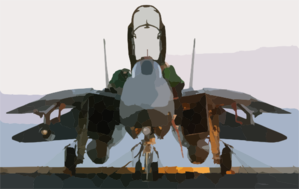 An F-14 Tomcat Assigned To The Pukin  Dogs Of Fighter Squadron One Four Three (vf-143) Receives Final Maintenance Checks Clip Art