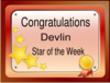 Star Of The Week Certificate Clip Art