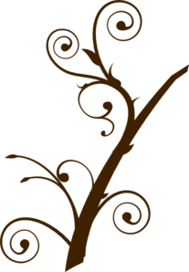 Brown Curly Branch Clip Art