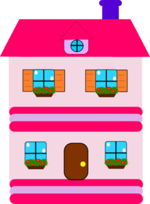 Pink Doll House Clip Art